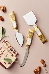 Anthropologie Larissa Serving Set Gold
