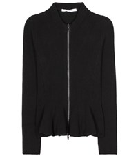 Givenchy Cotton Blend Knitted Jacket Black