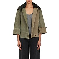 Greg Lauren Women's Christian Jacket Dark Green