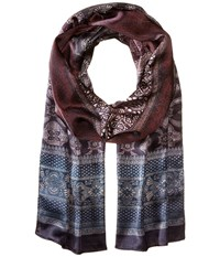 Echo Patterned Ombre Oblong Black Scarves