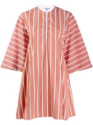 Thierry Colson Striped Tunic Neutrals
