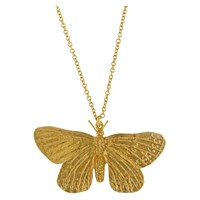 Alex Monroe Butterfly Pendant Necklace Gold