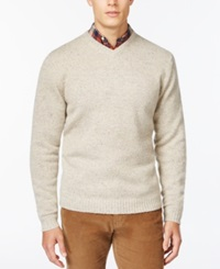 Weatherproof V Neck Wool Sweater Ivory