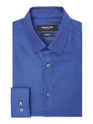 Kenneth Cole Men's Founders Slim Fit Textured Shirt Blue