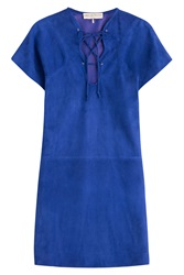 Emilio Pucci Suede Mini Dress Blue