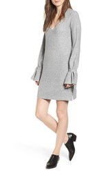 Cupcakes And Cashmere Tie Sleeve Sweater Dress H Grey