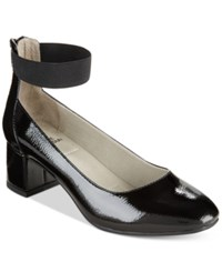 White Mountain Makayla Block Heel Dress Pumps Women's Shoes Black