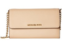 Michael Michael Kors Jet Set Travel Large Phone Crossbody Oyster Cross Body Handbags Beige