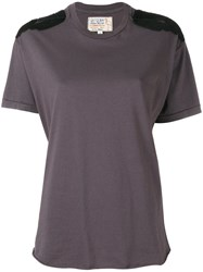 R 13 R13 Shoulder Panel T Shirt Women Cotton S Grey