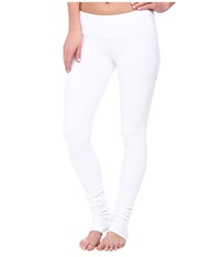 Alo Yoga Goddess Ribbed Legging 2 White White Women's Workout