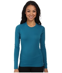 Arc'teryx Phase Sl Crew L S Larimar Women's Long Sleeve Pullover Blue