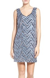 Bb Dakota Women's Mayfair Sequin Shift Dress Ice
