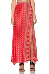 Spell And The Gypsy Collective Gypsiana Maxi Skirt Red