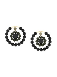 Marni Circular Beaded Earrings Black