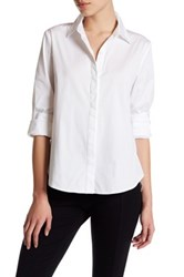 14Th And Union Long Sleeve Blouse Petite White