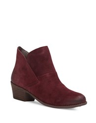Me Too Suede Almond Toe Ankle Boots Bordeaux