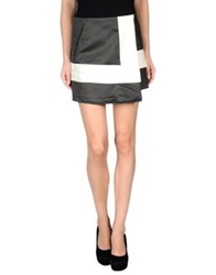 Acne Studios Mini Skirts Steel Grey