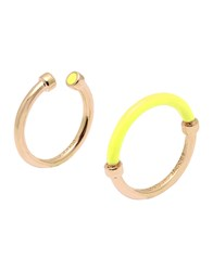 Marc By Marc Jacobs Rings Yellow
