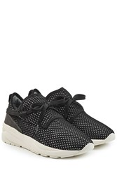 Casbia Mesh Sneakers With Suede