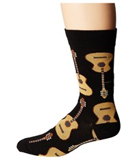 Socksmith Guitars Black 1 Crew Cut Socks Shoes