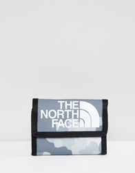 The North Face Base Camp Wallet In Macrofleck Print White