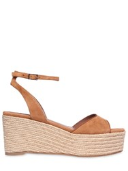 Tabitha Simmons 80Mm Tessa Suede Wedge Sandals