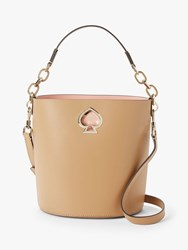 Kate Spade New York Suzy Small Leather Bucket Bag Brown