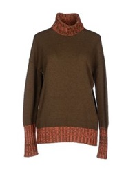Massimo Alba Turtlenecks Military Green