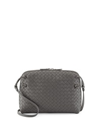 Bottega Veneta Veneta Small Messenger Bag Gray