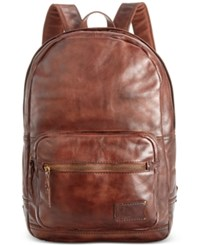 Patricia Nash Men's Leather Roma Backpack Riot Rust