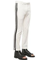 Balmain Wool Gabardine Pants With Satin Bands