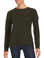 Zadig And Voltaire Wool Blend Long Sleeve Pullover Khaki