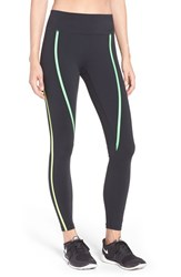 Nike Women's 'Power Legendary' High Waist Training Tights Black Green Spark Volt