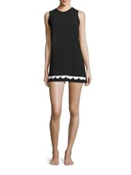Karla Colletto Swim Fiorenza Sleeveless Dress Black White