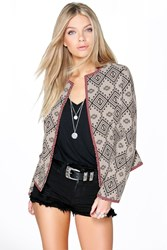 Boohoo Aztec Bed Jacket Multi