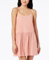 Roxy Juniors' Embroidered A Line Dress Rose