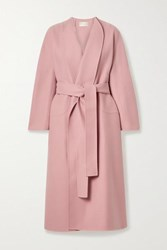 The Row Celete Belted Cashmere Coat Antique Rose
