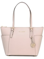 Michael Michael Kors Medium Tote Women Calf Leather One Size Pink Purple
