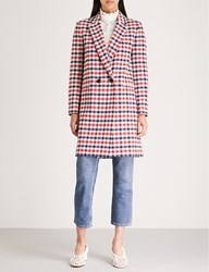 Claudie Pierlot Glossy Checked Woven Coat Multico