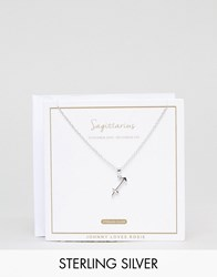 Johnny Loves Rosie Sterling Silver Zodiac Sagittarius Necklace Silver