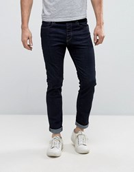 Selected Homme Indigo Rinse Wash Jeans With Stretch In Slim Fit Blue