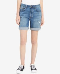 Calvin Klein Jeans Distressed Denim City Shorts Isolation Blue