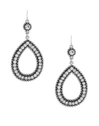 Jessica Simpson Crystal Dangle And Drop Earrings Silver