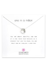 Dogeared Women's Reminder One In A Million Keshi Pearl Pendant Necklace Silver