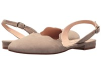 French Sole Book Taupe Suede Sling Back Shoes