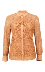 Baum Und Pferdgarten Moree Ruffled Lace Shirt Brown