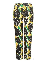 Therapy Malin Leaf Printed Trouser Green