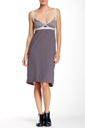 Vpl Insertion Narrow Short Dress Gray