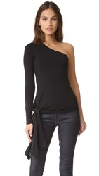 Susana Monaco One Shoulder Top Black