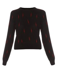Equipment X Kate Moss Ryder Cashmere Sweater Black Print